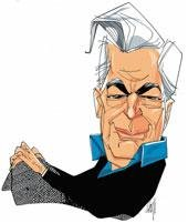 MARIO Vargas Llosa caricatura
