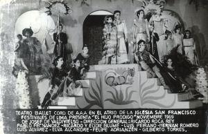 AAA-El Teatro, Ballet y Coro de la A.A.A. El Hijo Pródigo dirigida por Ricardo Roca Rey.