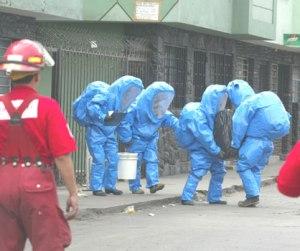 Bomberos materiales peligrosos