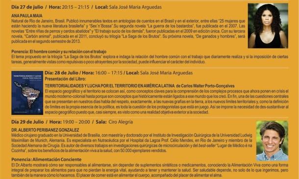 Brasil 27 al  29 de Julio en la FIL 2013