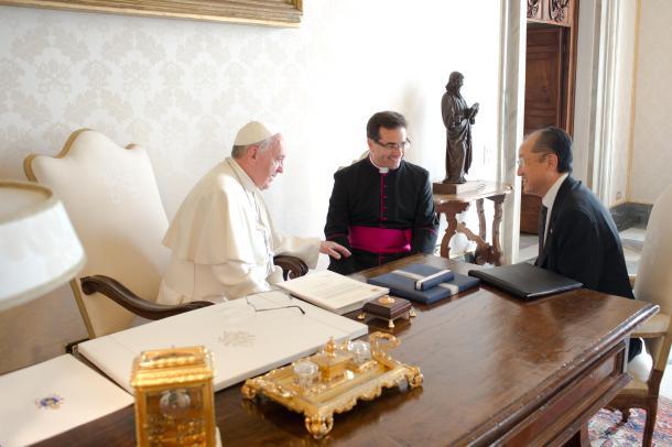 Papa Francisco y Presidente del Banco Mundial 2013
