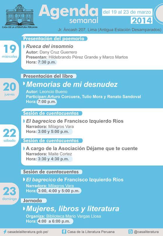 Casa de Literatura 19 al 23 de Marzo