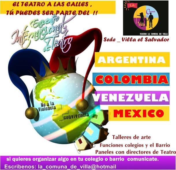 Encuentro Internacional de Teatro 'No a la violencia' en Villa El Salvador
