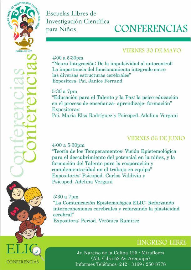 Conferencias Elic Mayo Junio