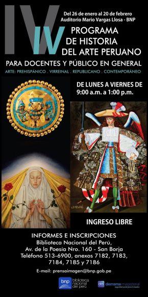 PROGRAMA DE HISTORIA DEL ARTE PERUANO EN LA BNP PARA TODOS CON INGRESOLIBRE