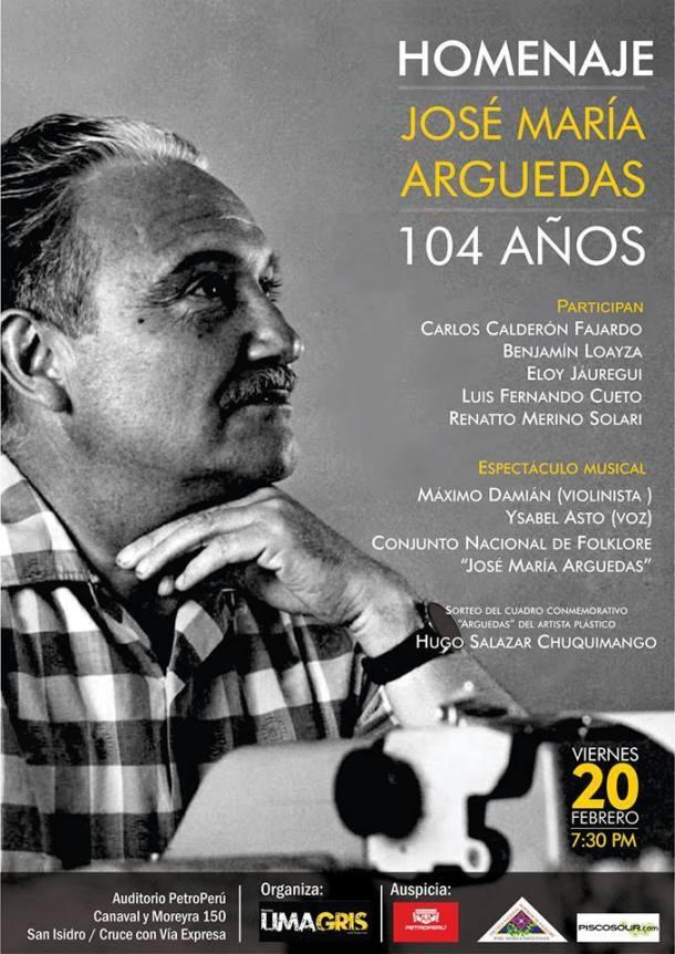 Homenaje a José María Arguedas afiche