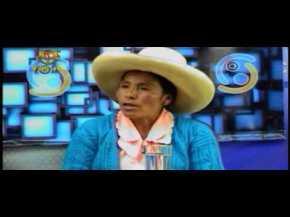 La protesta de campesina peruana contra mineraYanacocha