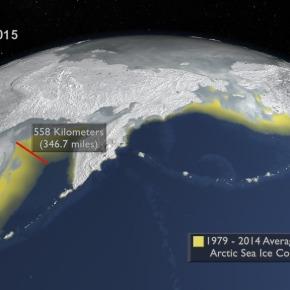 La NASA muestra la desaparición de la superficie helada del Ártico en su mínimohistórico