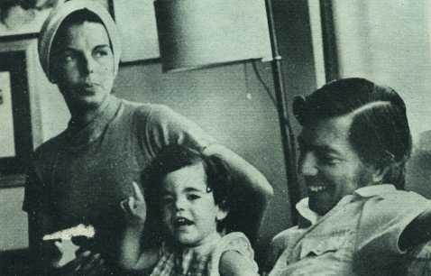 Mario Vargas Llosa, su esposa Patricia y su hija Morgana