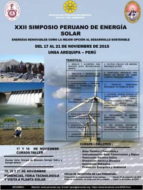 Simposio Peruano de Energía Solar – Arequipa, ediciónXXII