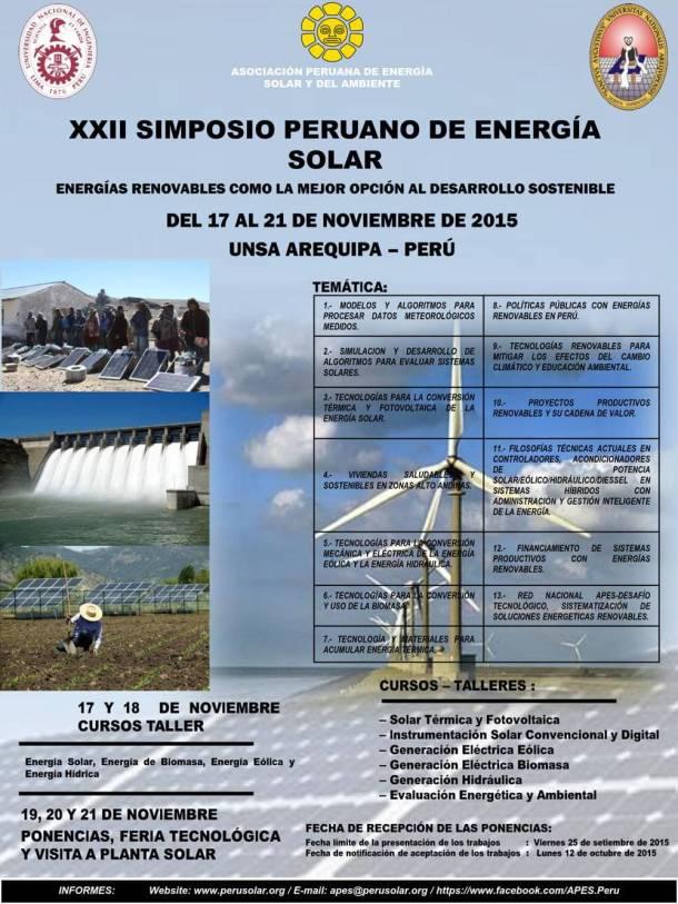 Simposio energía solar Arequipa APES