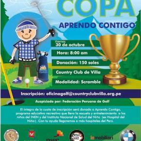 """Torneo de golf """"Copa Aprendo Contigo"""" por los niños del INEN y Hospital delniño"""