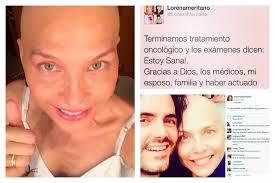 Lorena Meritano mensaje en facebook al término de tratamiento
