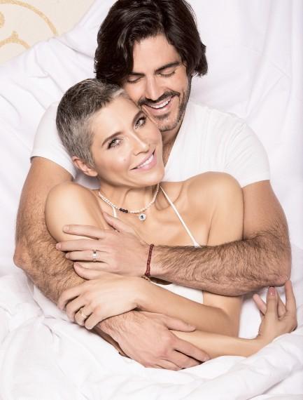 Lorena Meritano y su esposo