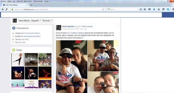 Eric Grijalva Campos y Vania Masías Facebook