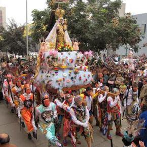 Fiesta de la Virgen 'Mamacha Carmen' de Paucartambo en la Gran Biblioteca Pública deLima
