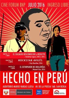 Sincretismo, criollismo e historia en el Cine Forum 'Hecho en el Perú' de la BibliotecaNacional