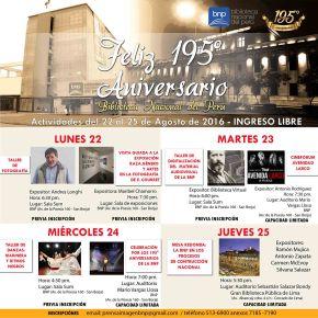 La Biblioteca Nacional del Perú celebra 195 años de fundación con actividades hasta el 25 deAgosto