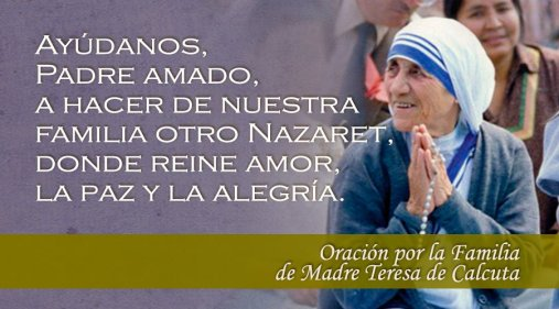 Oración por la familia de la Madre Teresa de Calcuta