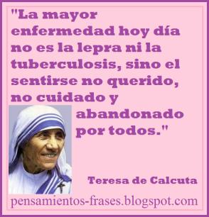 Pensamiento Madre Teresa de Calcuta
