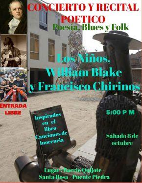 Concierto y Recital poético: Los Niños, William Blake y FranciscoChirinos