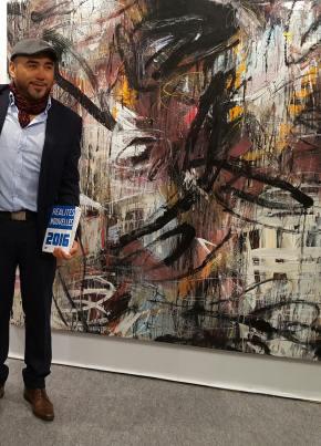 """Artista peruano Zeballos-Moscairo participa en el """"70 Salon Realites Nouvelles 2016"""" en París,Francia"""