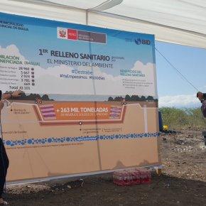 Ministra del Ambiente visitó obras del primer relleno sanitario en Bagua gestionado por el MINAM dePerú