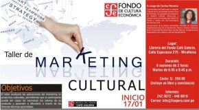 Fondo de Cultura Económica Perú brindará taller de Marketing Cultural a cargo de CarinaMoreno