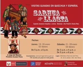 La muestra Sarhua Llaqta en la Biblioteca Nacional del Perú tendrá visitas guiadas en quechua yespañol