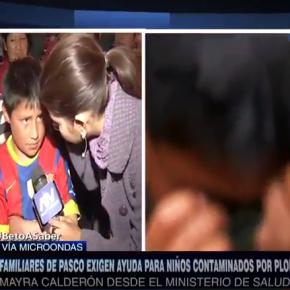 Niños peruanos que están muriendo intoxicados por plomo en Pasco llegaron a Lima para pedirS.O.S