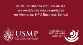 Inscripciones en Colombia al IMBA virtual: La Escuela de Negocios de la U. San Martin de Porres de Perú con la U. alemana HFU BusinessSchool