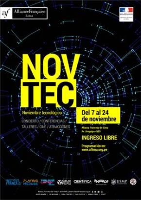 NOV TEC (noviembre tecnológico) AF: arte, juego, música, tecnología yworkshop