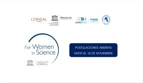 Premio Nacional L'Oréal-UNESCO-CONCYTEC- ANC Convocatoria abierta hasta el 14 denoviembre