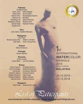 Artista arequipeño participará en la I Bienal internacional de acuarela deMalasia