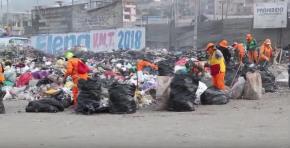 Tras declaratoria de emergencia ambiental en VMT, recogieron enorme cantidad de residuos sólidos. Se buscan autoridades yciudadanos