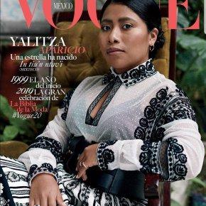 Yalitza Aparicio, simplemente en la portada de Vogue enero 2019 y en artículo de VanityFair