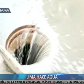 Cámara Peruana de la Construcción (Capeco): Lima tiene el sistema de agua y desagüe en estadocrítico