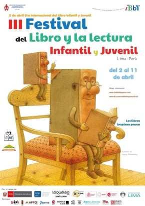 III Festival del libro y la lectura infantil y juvenil, del 2 al 11 de abril, organizado por CEDILI IBBYPERU