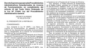 PCM de Perú estandarizó 10 procedimientos para licenciasmunicipales