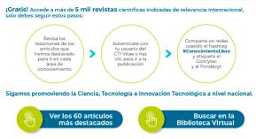 Accede gratis a más de 5 mil revistas científicas indexadas de relevanciainternacional