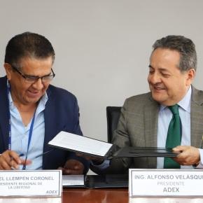ADEX y Gobierno Regional de La Libertad firmaron Convenio de Cooperación sobre exportaciones con valoragregado