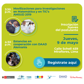 Charlas: Movilizaciones para Investigaciones AMSUD y Estancias en Cooperación con DAADAlemania