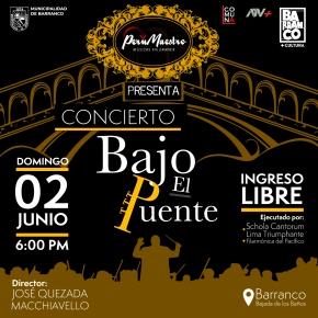 Barranco: 'Concierto bajo el puente' en la Bajada de losBaños