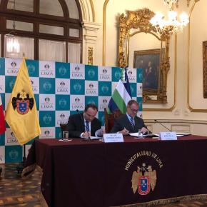 Municipalidad de Lima y CAF firman acuerdo para desarrollar proyectos en laciudad