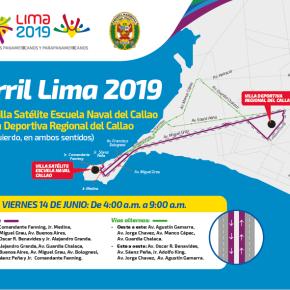 Policía Nacional realizará la segunda prueba del carril por los Juegos Panamericanos Lima2019