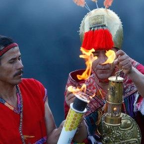 La antorcha de los Juegos Panamericanos Lima 2019 se encendió en MachuPicchu