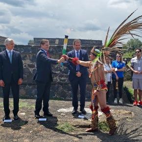 Se encendió la llama Panamericana en Teotihuacán hacia Lima2019
