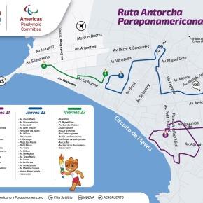 La ruta de la antorcha Parapanamericana Lima 2019 anuncia los Juegos que inician el 22 deagosto
