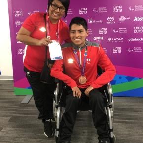 Peruano Rodrigo Santillán gana medalla de bronce por 100 m espalda en Parapanamericanos 2019