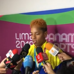 Atleta venezolana Yulimar Rojas gana oro por salto triple en Panamericanos Lima2019
